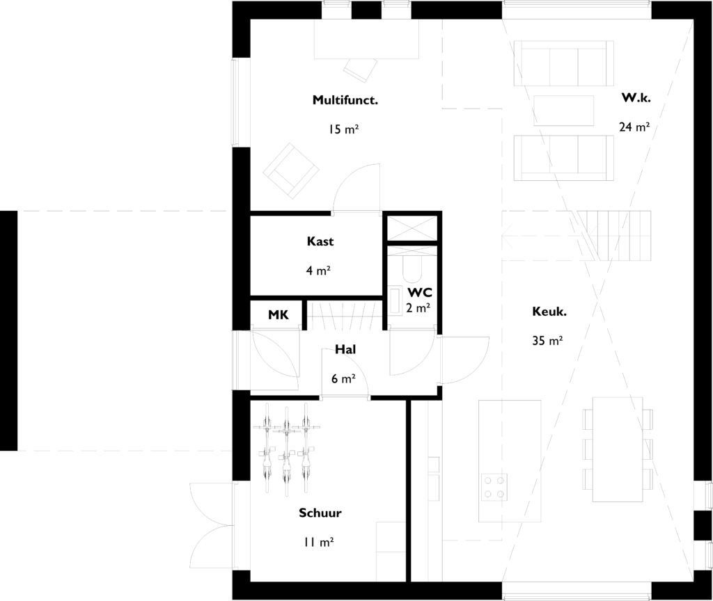 03-plattegrond-schuurwoning-bgg-1op-100