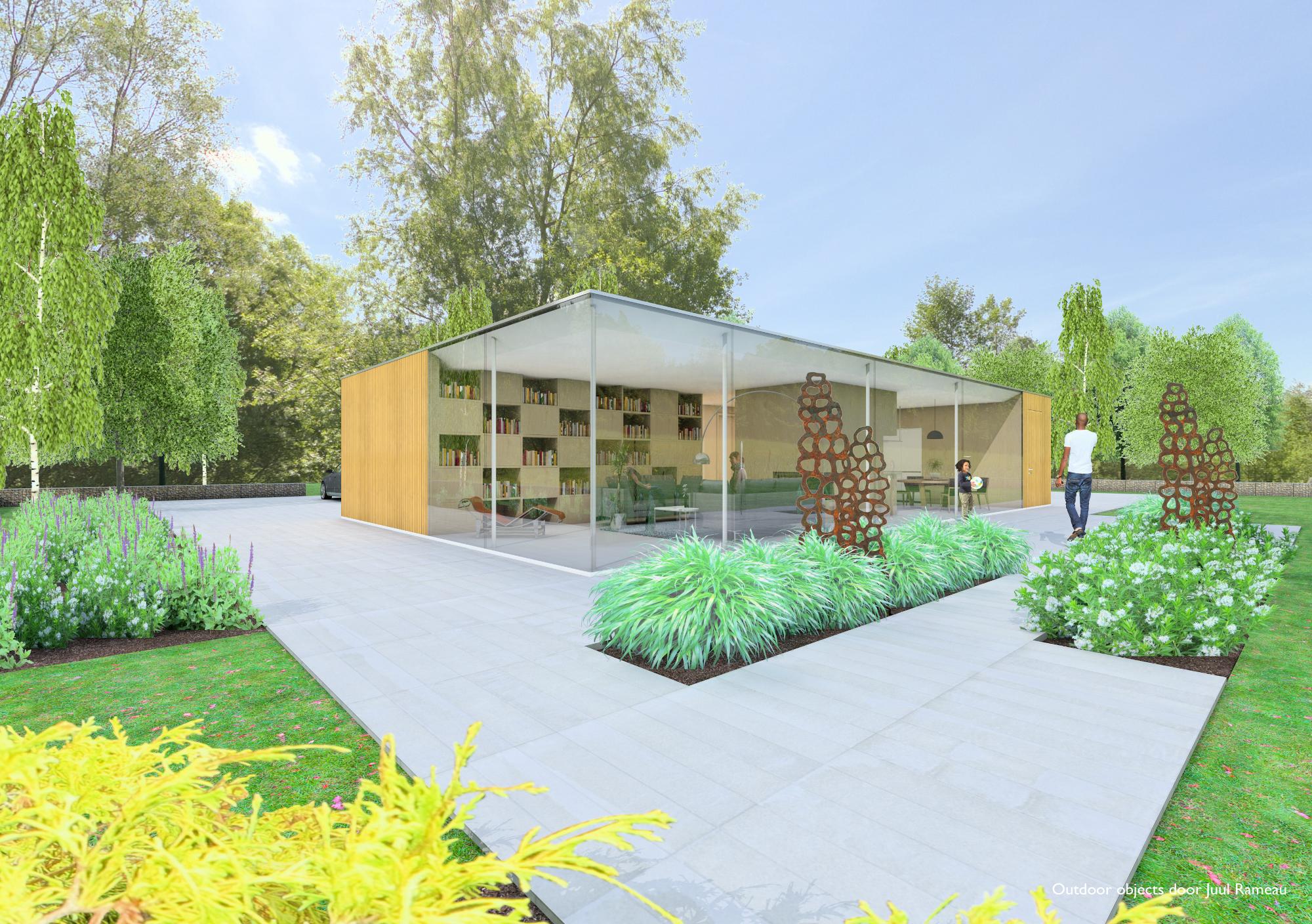 Architectuur ontwerp contact tuin